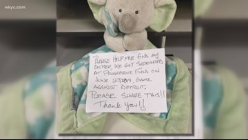 Cleveland Indians trying to find fan who left stuffed elephant at Progressive Field this past weekend