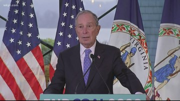 Democratic presidential candidate Mike Bloomberg to make campaign stop in Akron Wednesday