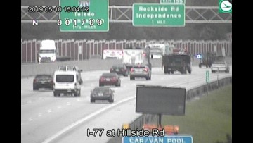 Crash causes delays on I-77 south in Independence