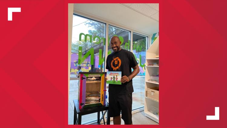 Akron author is the latest visitor to the Little Free Library at I Promise Village
