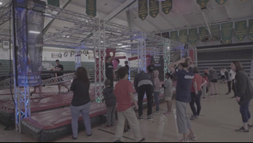 Akron's I PROMISE School students take on American Ninja Warrior Course