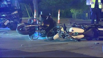 4 hurt when pickup truck hits 3 motorcycles in North Olmsted