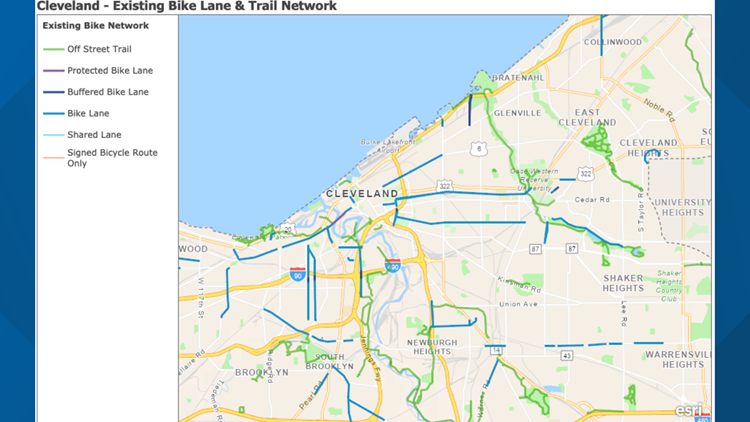 Bike Cleveland scooter map