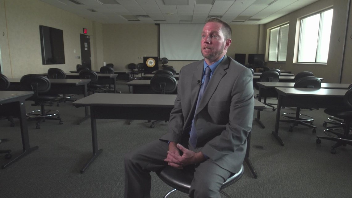 BCI special agent Roger Davis speaks with Sara Shookman on Aliza Sherman murder investigation