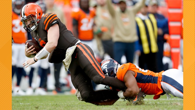 Baker Mayfield Browns Broncos Football
