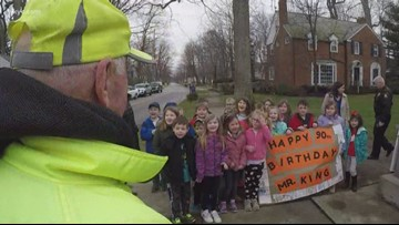 Longtime Bay Village crossing guard gets surprised by students