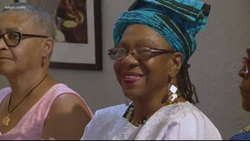 Leon Bibb reports: African drummer Linda Thomas Jones of Cleveland retires after passing on her craft for 51 years
