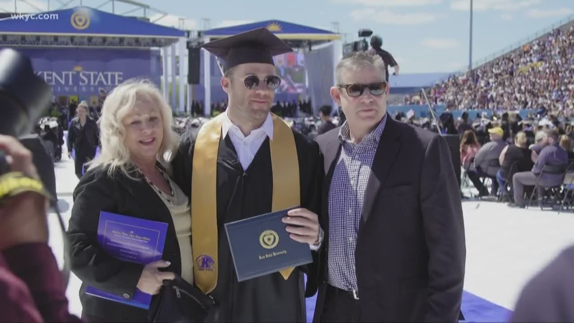 c5d9ab47aee6a5 We did it!' | NFL star Julian Edelman officially graduates from Kent ...