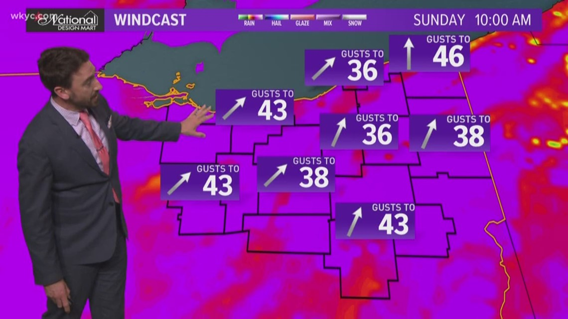 FORECAST | Strong, Damaging Winds Likely Sunday
