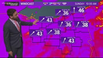 FORECAST | Strong, Damaging Winds Likely Sunday