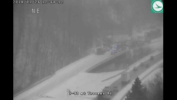 All lanes on I-90 west now open after crash near Vrooman Road