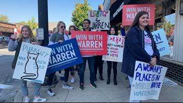 Support for Democratic candidates loud in downtown Westerville ahead of Tuesday's debate