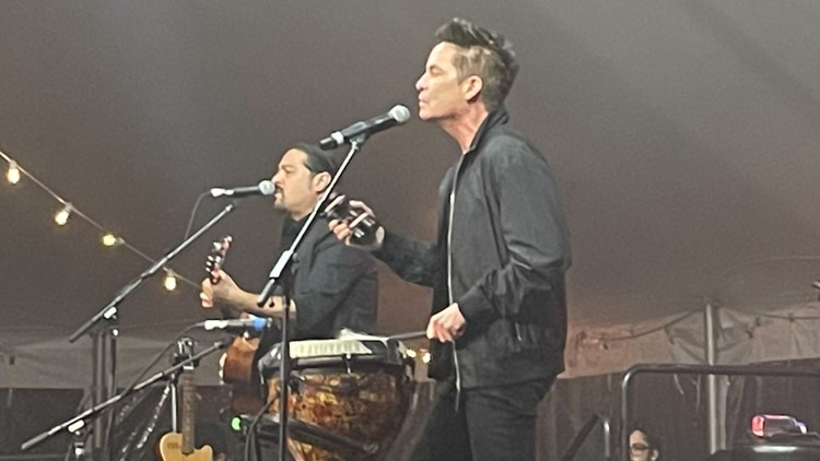 Train plays for attendees at 'ROC in CLE' fundraiser