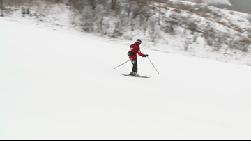 Skier's paradise: Snow piling up at Boston Mills/Brandywine