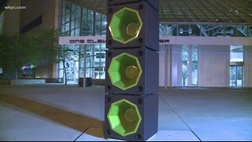 Rock Hall fixes speakers after they blast music around Cleveland all night