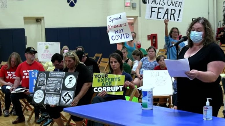 Parents clash over mask mandate during West Geauga Board of Education meeting