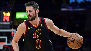Look: Cleveland Cavaliers' Kevin Love dresses as horror movie villain Jason Voorhees