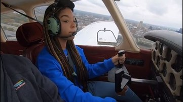 Girls in STEM: Cleveland teen earns student pilot's certificate and takes her first solo flight