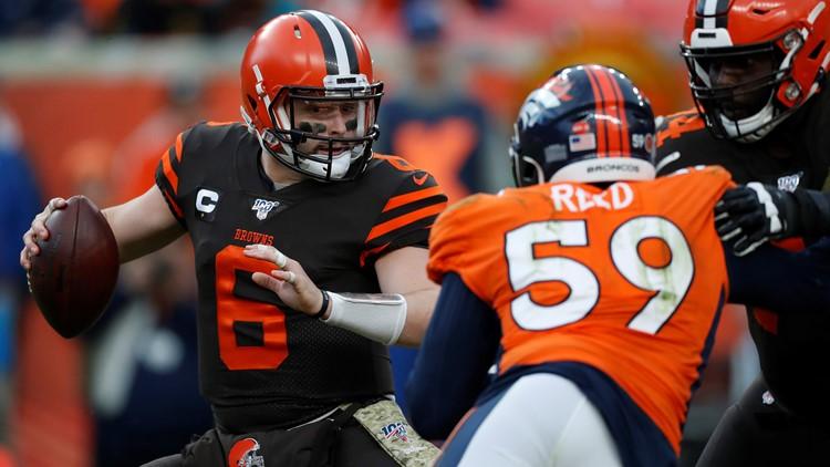 Baker Mayfield Cleveland Browns-Denver Broncos Football