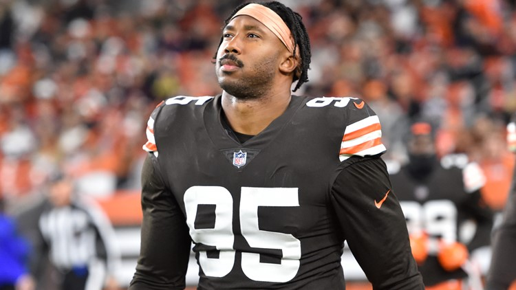 'They are trying to clone me': Browns DE Myles Garrett drug tested for third time in four weeks after win vs. Broncos