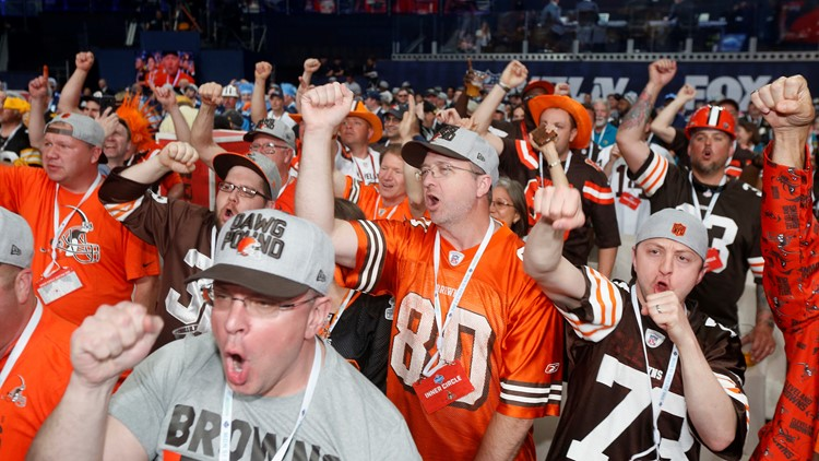 Cleveland Browns fans 2018 NFL Draft Football