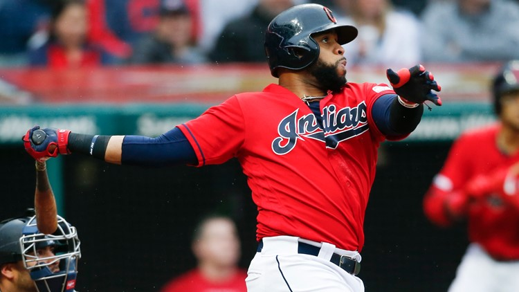 sports shoes 2a955 bdb6b Carlos Santana's 8th inning home run leads Indians past ...