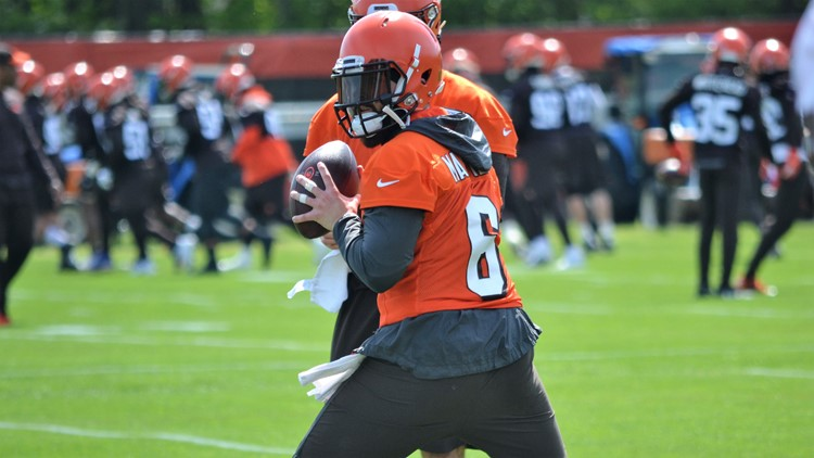 Cleveland Browns QB Baker Mayfield during OTAs