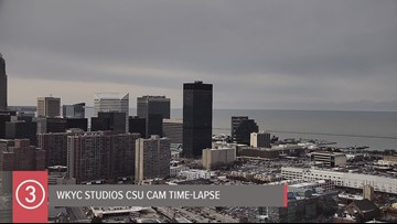 Wednesday Cleveland weather time-lapse for November 13, 2019