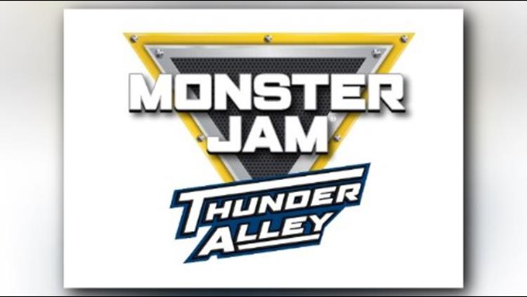 Monster jam Thunder Alley logo for Cedar Point 2019