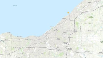 Small earthquake strikes under Lake Erie off Willowick
