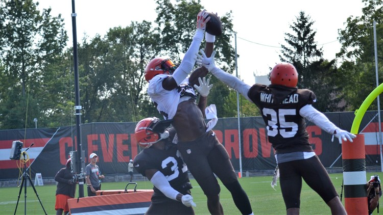 David Njoku Cleveland Browns training camp August 10, 2019