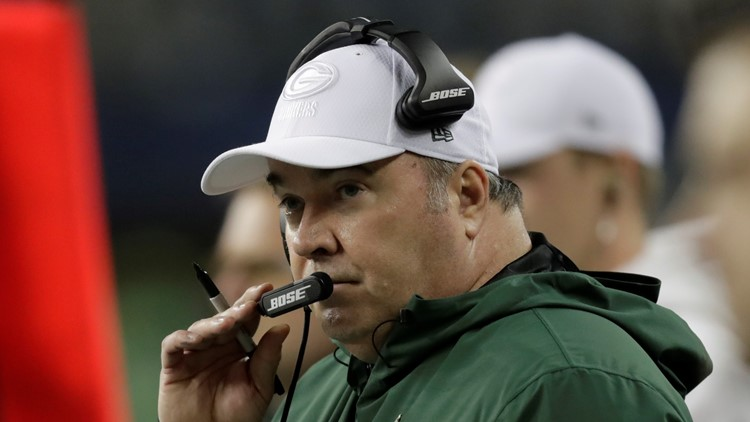 Mike McCarthy Green Bay Packers-Seattle Seahawks Football