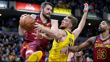 Cleveland Cavaliers shoot just 37% in 102-95 loss to Indiana Pacers
