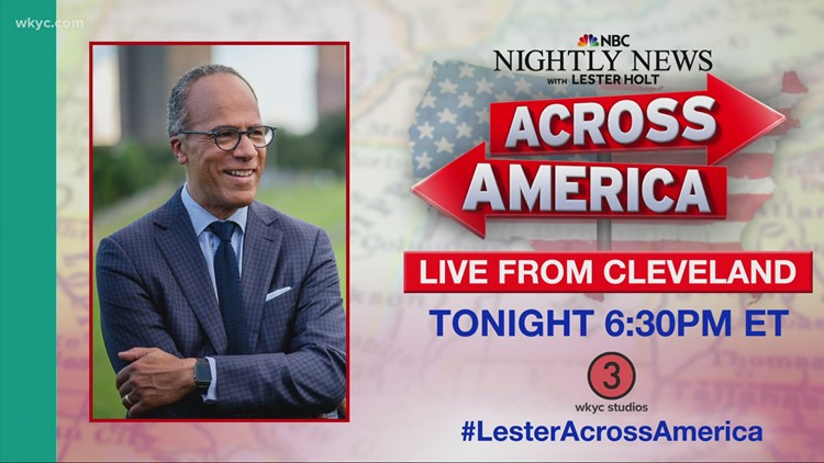 Lester Holt anchors NBC Nightly News from Cleveland; Check out our photos and videos