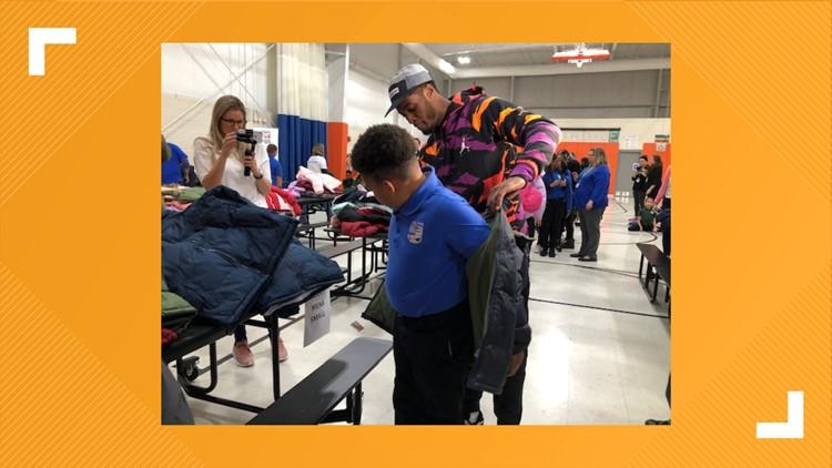 Cleveland Browns cornerback Denzel Ward donates 500 coats to local students