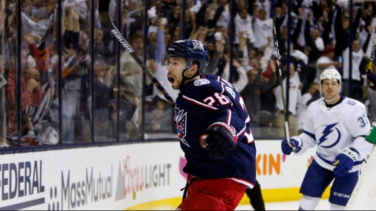 Columbus Blue Jackets complete sweep of Tampa Bay Lightning