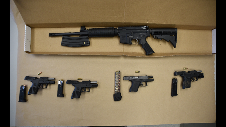 Police arrest 4 men, recover loaded weapons inside stolen vehicle in Akron