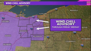 Strong winds prompt a Wind Chill Advisory starting Friday morning
