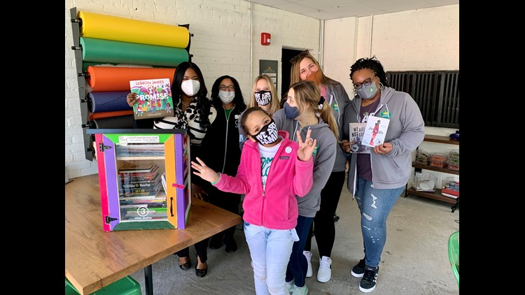 Colorful Little Free Library unveiled at I PROMISE Village in honor of Read Across America Day