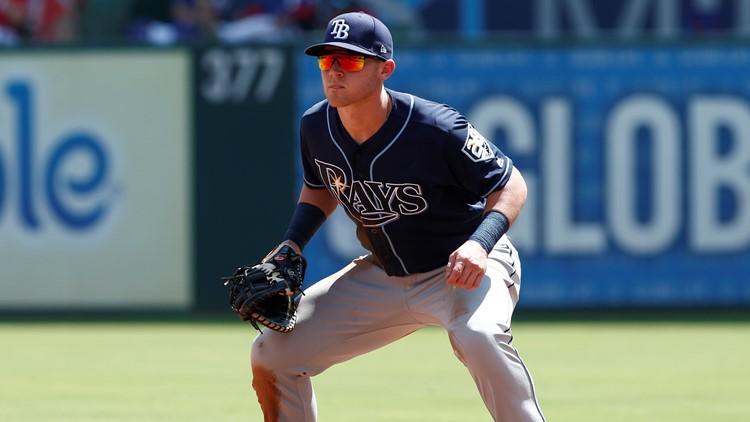 Cleveland Indians infielder Jake Bauers