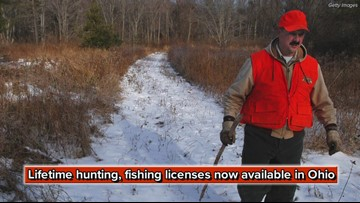 Lifetime hunting, fishing licenses now available in Ohio