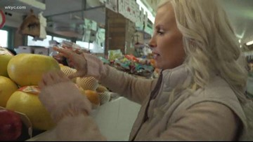 Actress Monica Potter experiences Cleveland's iconic West Side Market