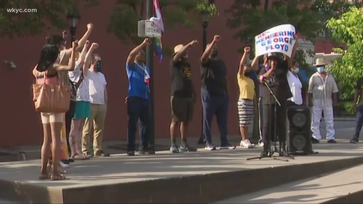 Rally held on Cleveland's west side to mark anniversary of George Floyd's death