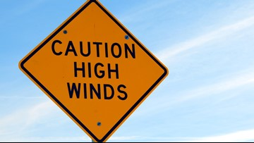 Strong winds trigger weather alerts: 50 mph gusts possible today