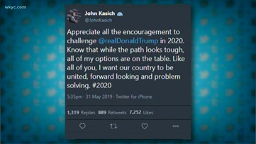 Former Ohio Gov. John Kasich tweets about 2020 election