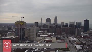 Thursday afternoon Cleveland weather time-lapse for November 14, 2019