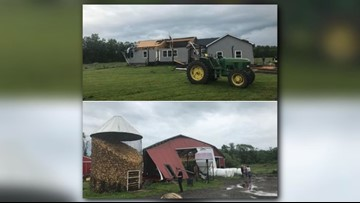 'Possible tornado' damages home, barn in Geauga County
