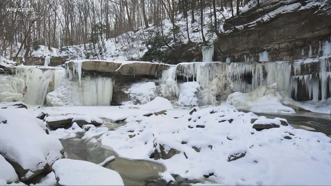 Exploring the frozen waterfalls at Tinker Creek in Bedford: GO-HIO adventures with Matt Standridge