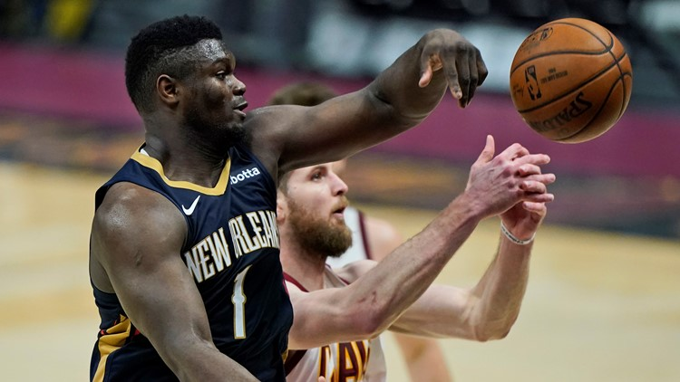 Zion Williamson scores 38, Pelicans rally past Cavaliers 116-109