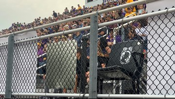 Empty seat at Avon High School stadium dedicated to POWs, MIAs